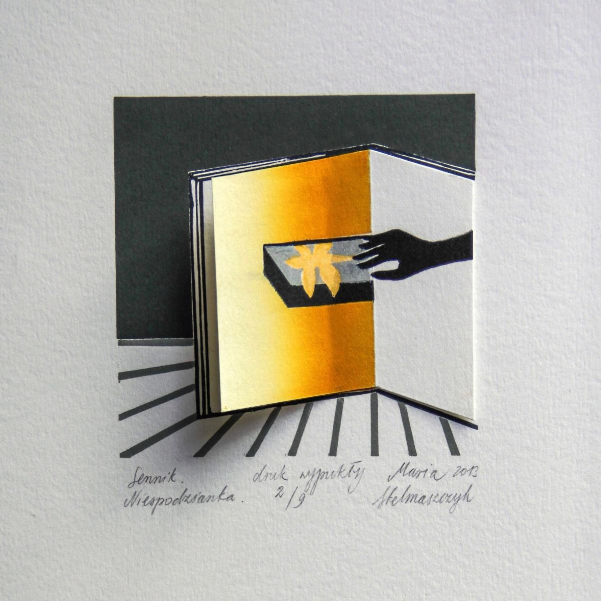 Dream book. A surprise - XXI Century, Contemporary 3D Linocut & Woodcut Print