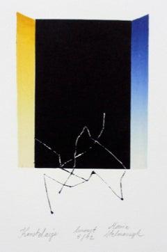 Constellation - XXI Century, Contemporary Linocut & Woodcut Print, Abstract