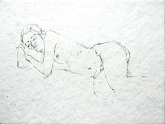 Nude - XXI Century, Contemporary Figurative Nude Pencil Drawing, Realistic