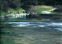 Dunajec - XXI Century, Contemporary Figurative Oil Painting, Realism, Landscape