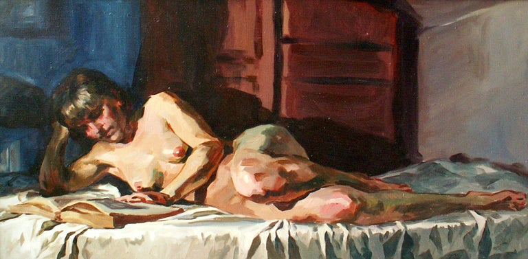 Janusz Szpyt Nude Painting - Nude A - XXI Century, Contemporary Figurative Oil Painting, Realism