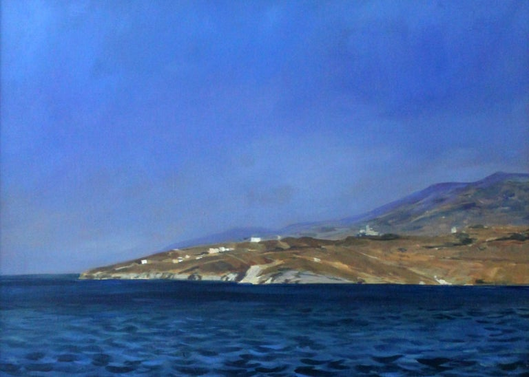 Janusz Szpyt Figurative Painting - Cyclades - XXI Century, Contemporary Landscape Oil Painting, Realism, Marine