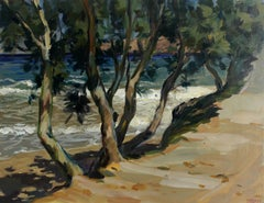 Trees in Kini - XXI Century, Contemporary Landscape Oil Painting, Realism