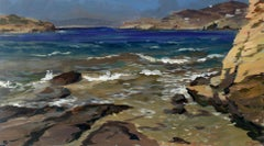 Posidonia Coast - XXI Century, Contemporary Landscape Oil Painting, Realism