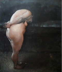 Nude (A Stone)  - XXI Century, Contemporary Figurative Oil Painting, Body