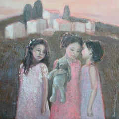 A mystery - XXI Century, Contemporary Figurative Oil Painting, Landscape
