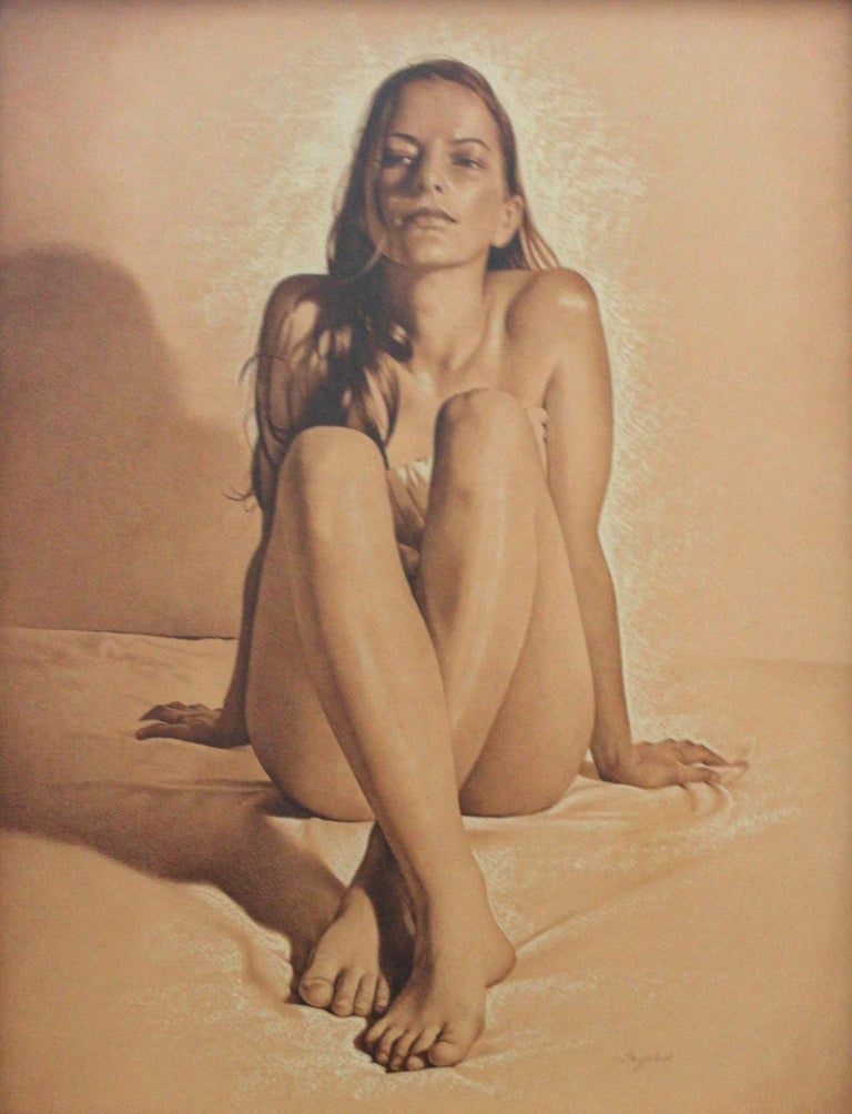 Andrzej Szypluk Figurative Art - Nude - XXI century, Contemporary Realistic Figurative Mixed Media Drawing