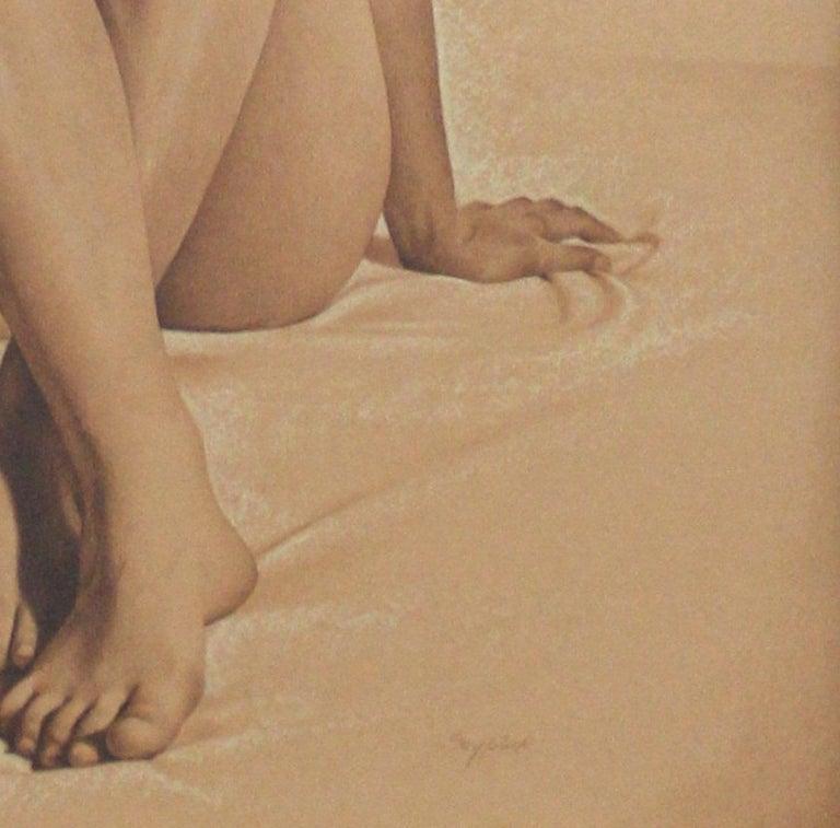 Nude - XXI century, Contemporary Realistic Figurative Mixed Media Drawing   - Art by Andrzej Szypluk