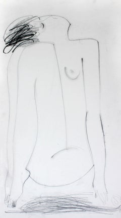 Nude - XXI Century, Contemporary Figurative Pencil Drawing on Paper