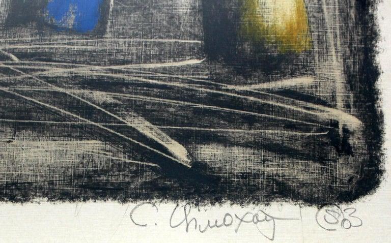 Still life - XXI Century, Contemporary Figurative Monotype Print - Gray Animal Print by Siergiej Timochow
