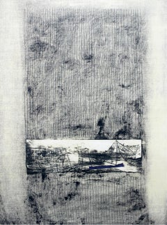 A landscape - XXI Century, Contemporary Abstract Monotype Print, Monochromatic