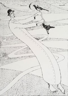 Mountebank - XXI Century, Contemporary Figurative DryPoint Etching Print