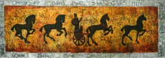 A chariot - XXI Century, Figurative Acrylic Painting, Antique Inspired