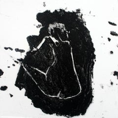 Nude X - XXI Century, Contemporary Figurative Etching Print, Monochromatic