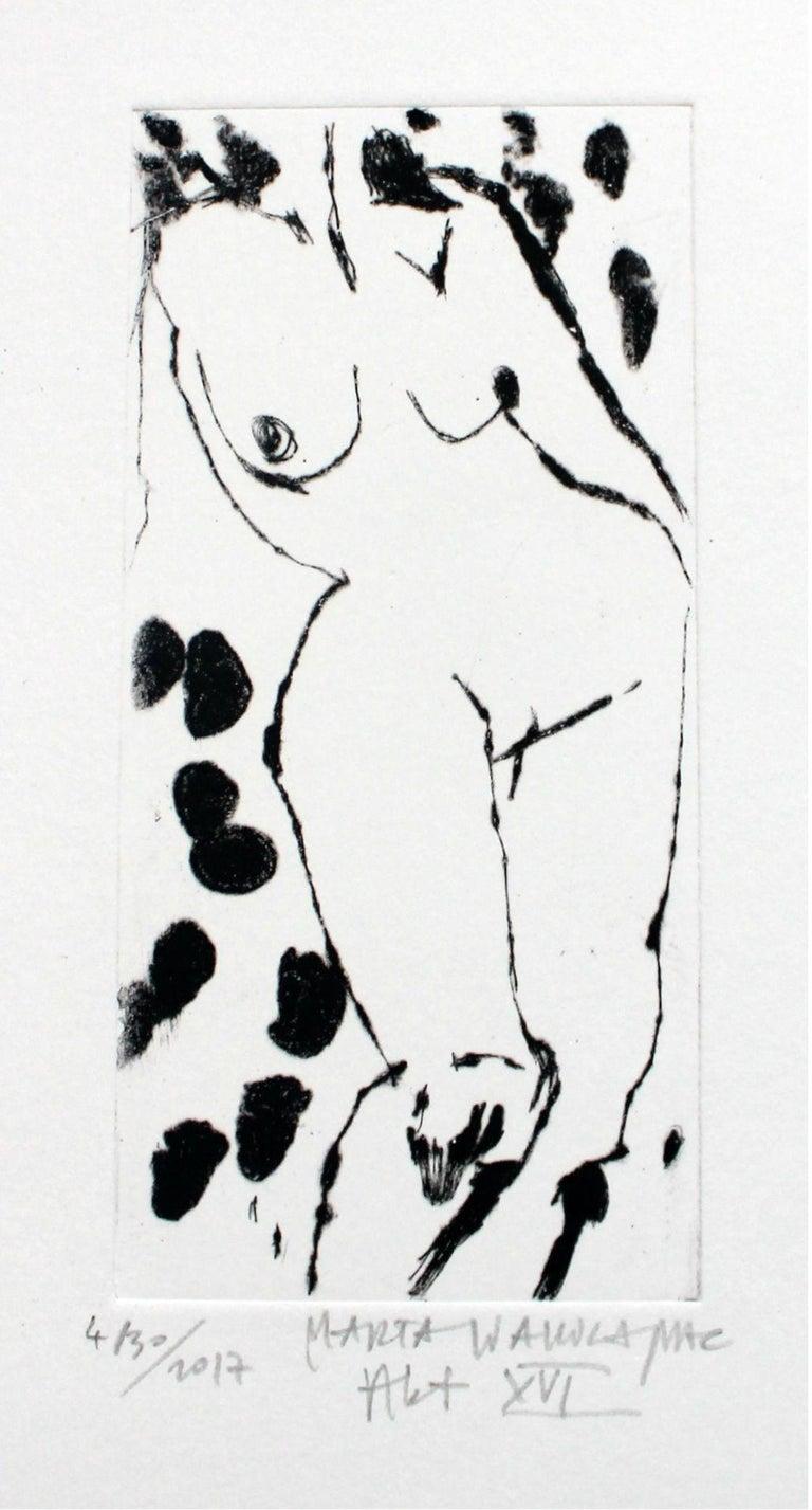 Marta Wakula-Mac Nude Print - Nude XVI - XXI Century, Contemporary Figurative Drypoint Etching Print
