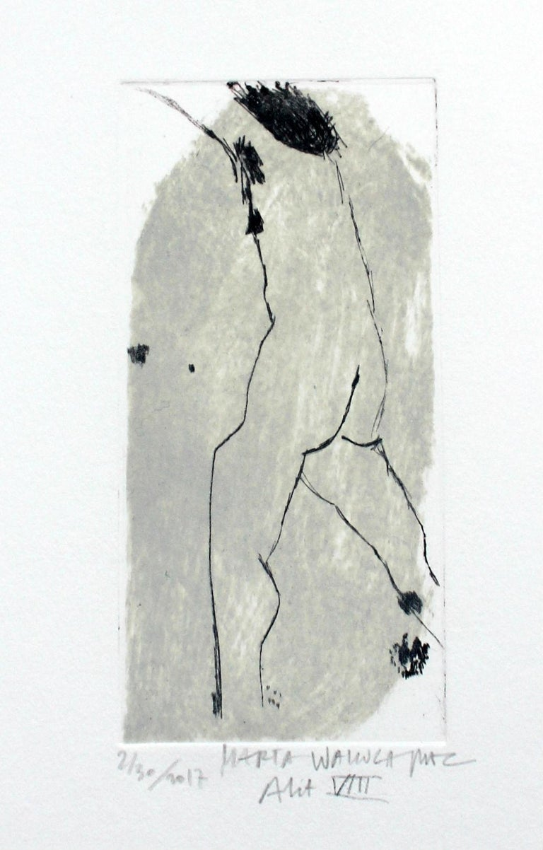 Marta Wakula-Mac Nude Print - Nude VIII - XXI Century, Contemporary Figurative Drypoint Etching Print