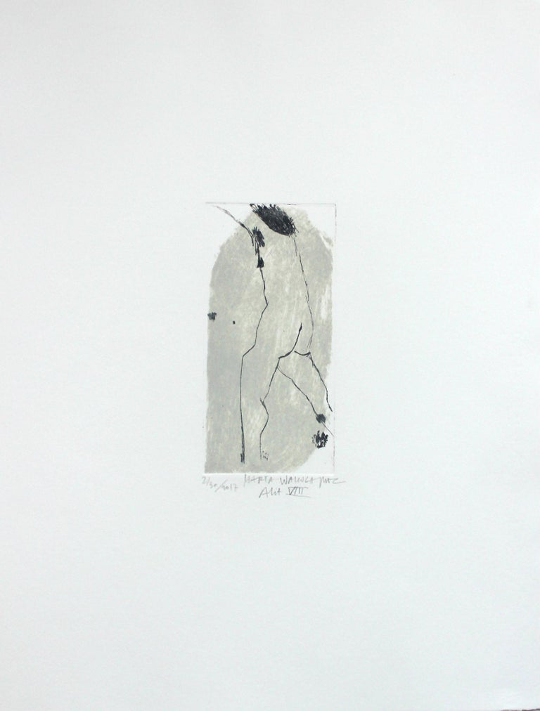 Drypoint etching print by Polish artist Marta Wakula-Mac, number 2 out of 30