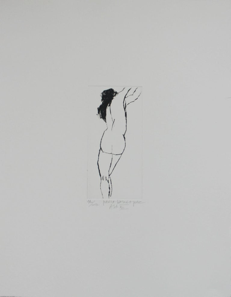 Drypoint etching print by Polish artist Marta Wakula-Mac, number 1 out of 30