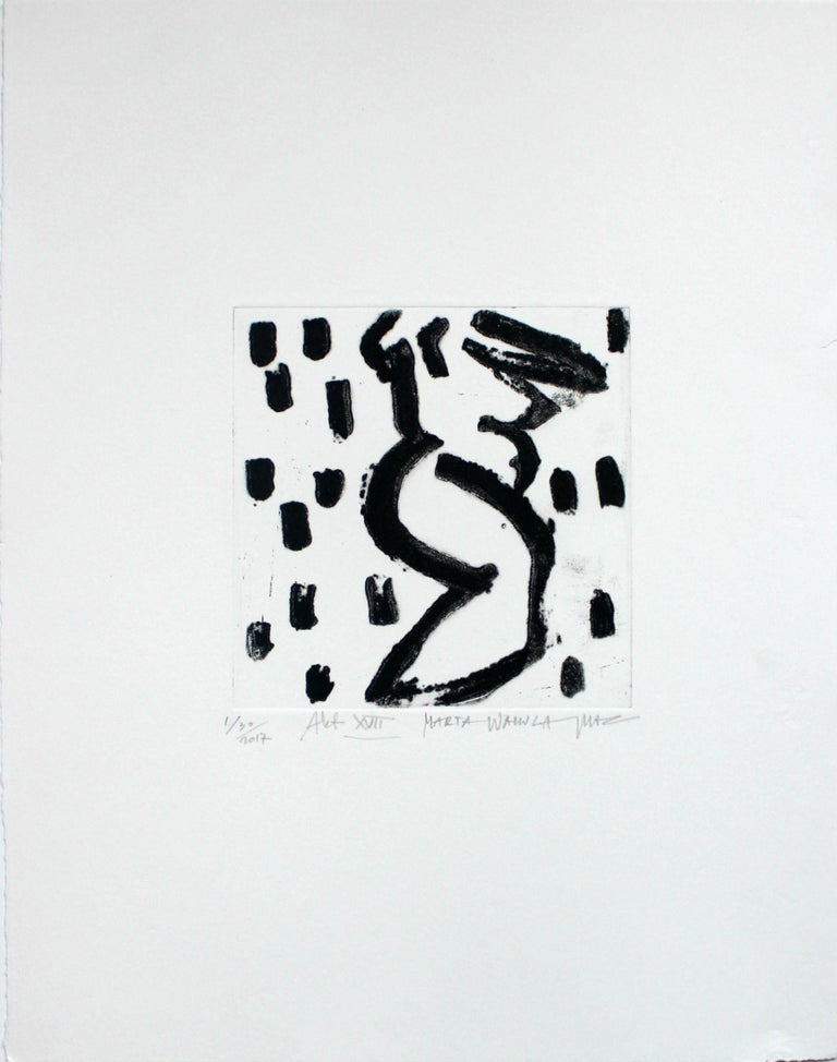 Nude XVII - XXI Century, Contemporary Figurative Drypoint Etching Print For Sale 1