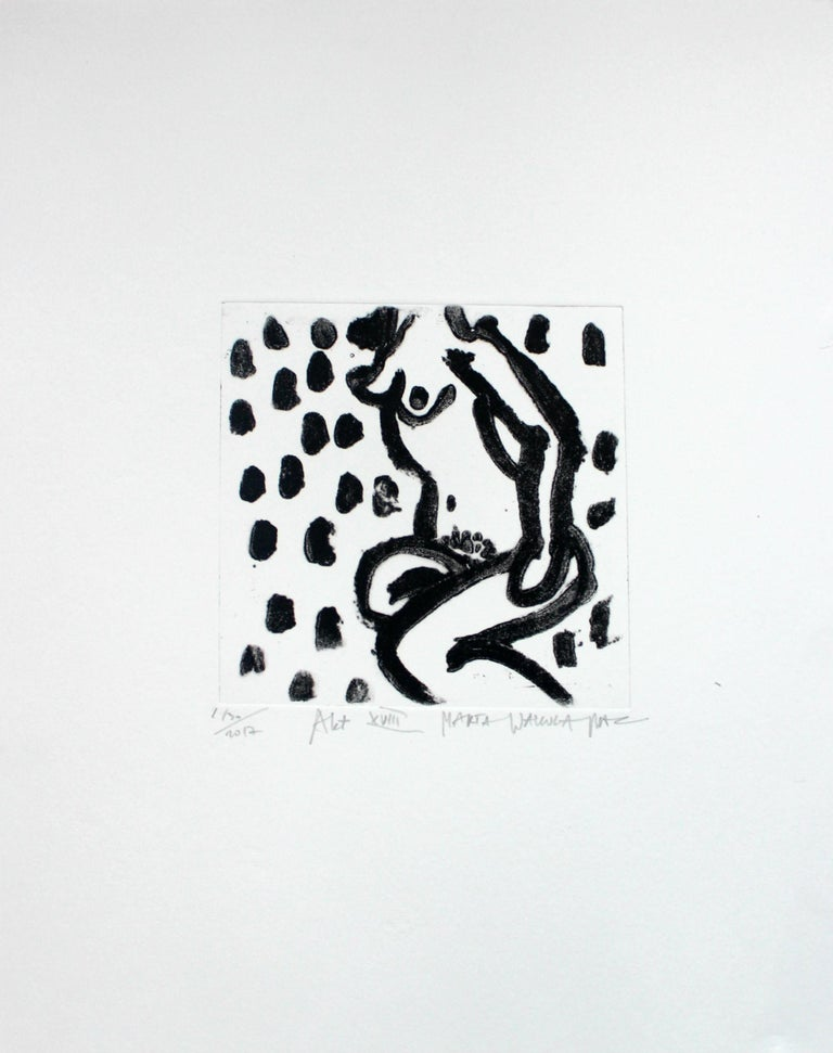 Nude XVIII - XXI Century, Contemporary Figurative Drypoint Etching Print For Sale 1
