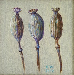 Poppies - XXI Century, Contemporary Figurative Oil Painting, Still life
