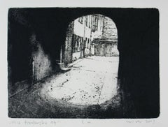 14 Przedborska Street - XXI Century, Contemporary Etching Print, City view