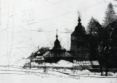 Woloniec - XXI Century, Contemporary Etching Print, Sacral Architecture