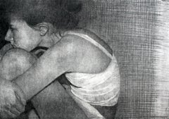 Sister's portrait - XXI Century, Contemporary Figurative Lithograph Print