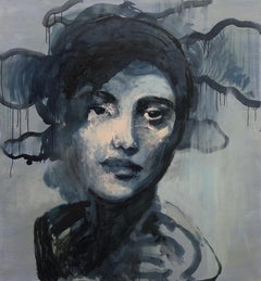 Woman VIII - XXI Century Contemporary Oil & Tempera on Canvas Painting, Portrait