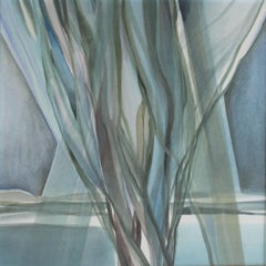 Plant symphonies - Contemporary Watercolor Abstraction Painting, Cold tones