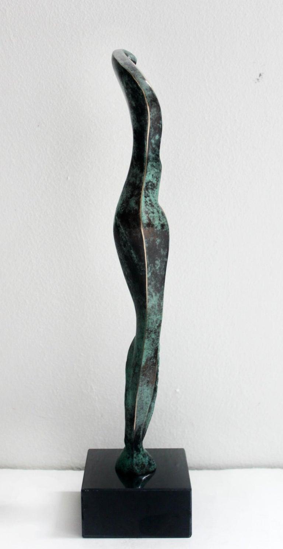 Venus IV - XXI Century, Contemporary Bronze Sculptue, Figurative, Abstraction - Gold Figurative Sculpture by Stanisław Wysocki