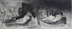 Giordano & Velazquez's Venuses - Contemporary Figurative Etching Print, Nude