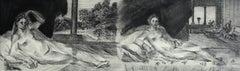 Sustris' Venuses - Contemporary Figurative Etching Print, Nude, Landscape
