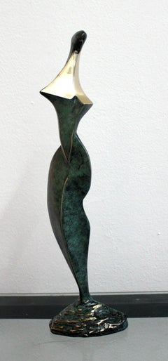Dame - XXI Century, Contemporary Bronze Sculpture, Abstract, Figurative, Nude