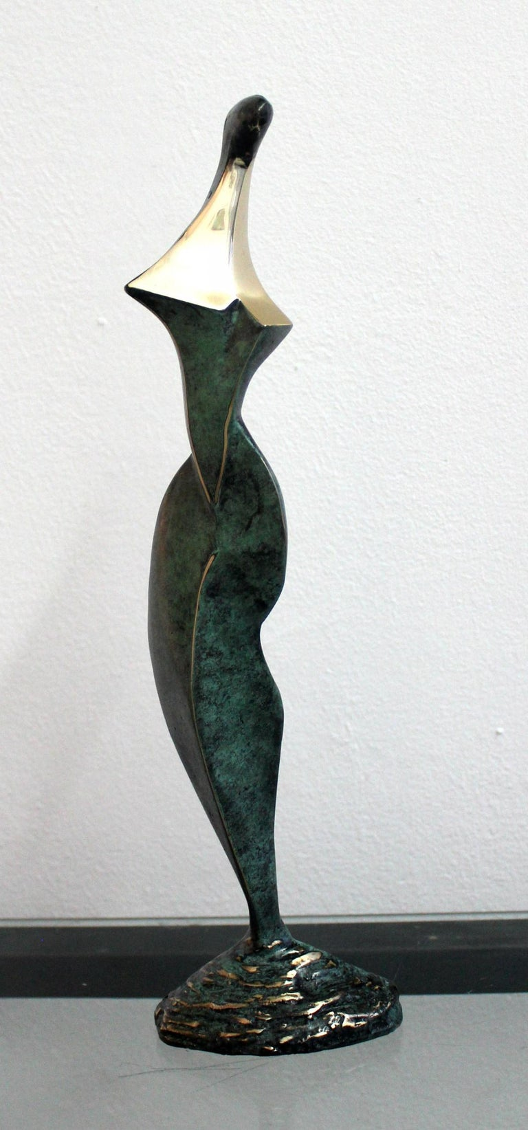 Stanisław Wysocki Figurative Sculpture - Dame - XXI Century, Contemporary Bronze Sculpture, Abstract, Figurative, Nude