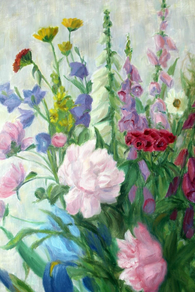 Spring flowers - XX Century, Still-life Oil Painting, Colorful, Bright Colors For Sale 2
