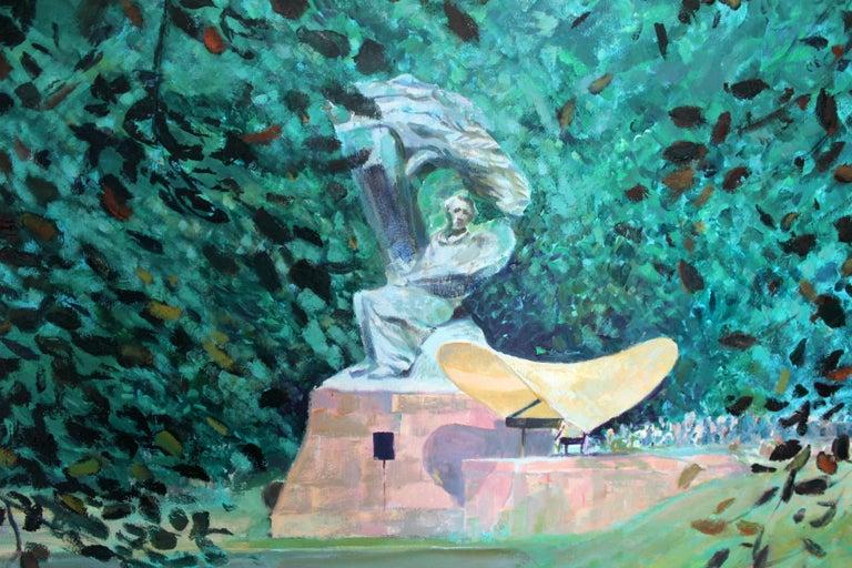 Concert - XXI Century, Contemporary Impressionist Figurative Oil Painting 1