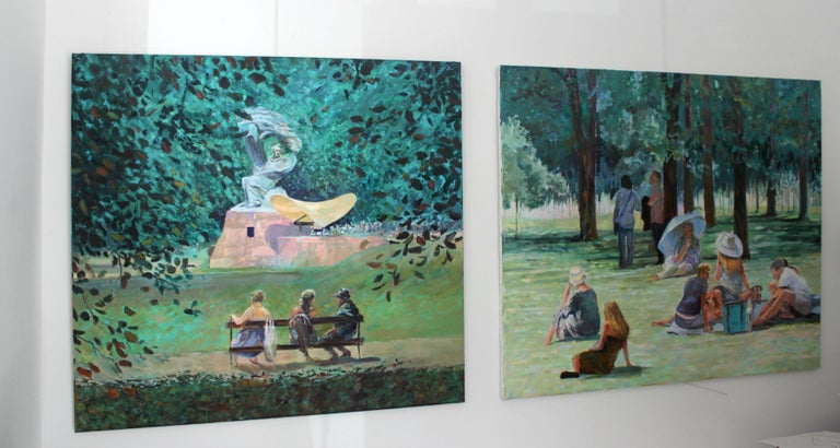 Concert - XXI Century, Contemporary Impressionist Figurative Oil Painting 2