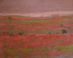Tuscany - XXI Century, Contemporary Landscape Oil Painting, Textured, Warm Tones
