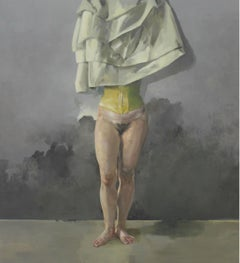 Amor vacui - XXI Century, Contemporary Figurative Nude Oil Painting