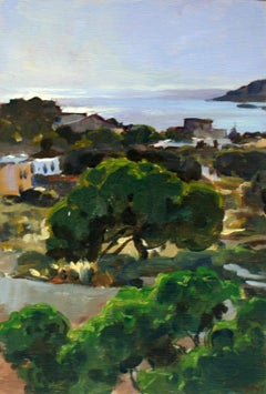 Syros afternoon - XXI Century, Contemporary Landscape Oil Painting, Realistic