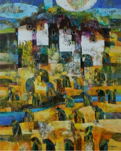 Landscape - Contemporary art, Figurative painting, Colorful, Texture