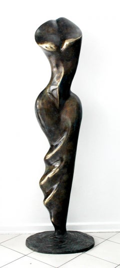 Helen - XXI Century, Contemporary Bronze Sculpture, Abstract, Figurative, Nude