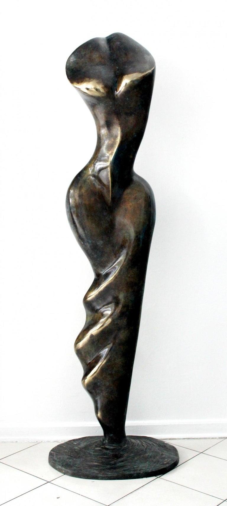 Stanisław Wysocki Figurative Sculpture - Helen - XXI Century, Contemporary Bronze Sculpture, Abstract, Figurative, Nude