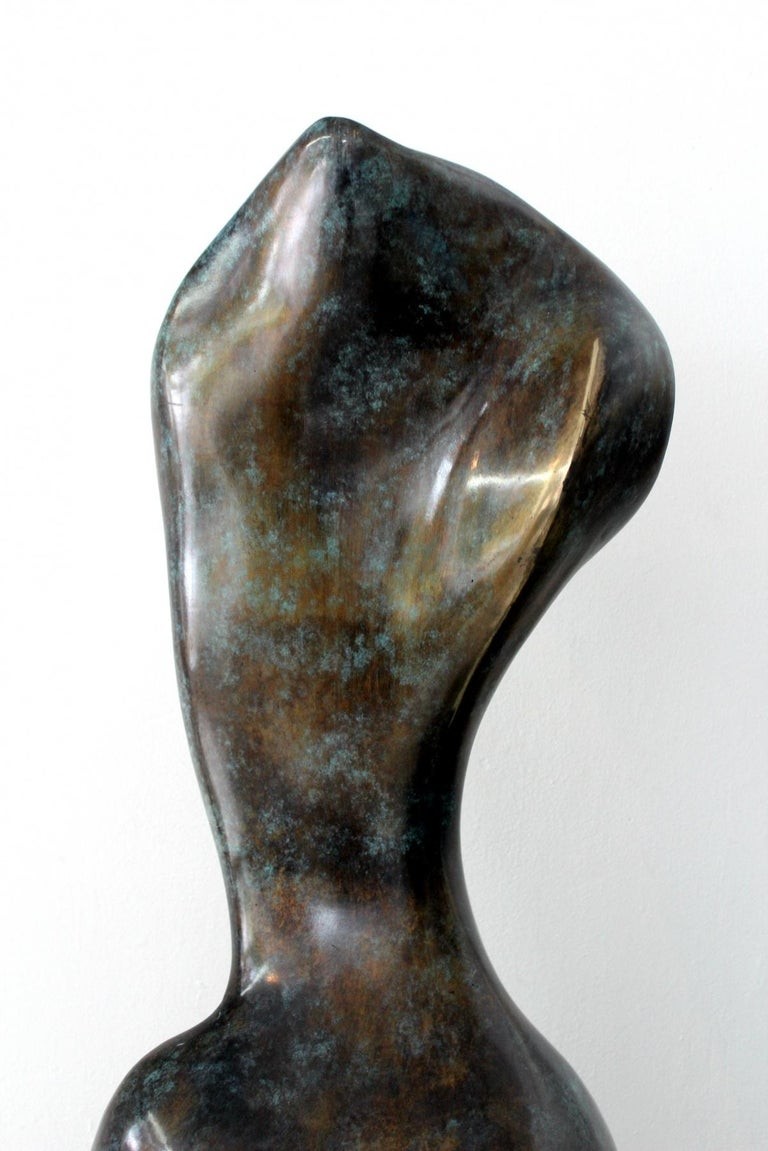 Helen - XXI Century, Contemporary Bronze Sculpture, Abstract, Figurative, Nude - Gold Figurative Sculpture by Stanisław Wysocki