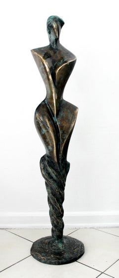 Inspiration II - Contemporary Bronze Sculpture, Abstract, Figurative, Nude