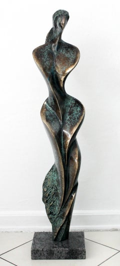 Her - Contemporary Bronze Sculpture, Abstract, Figurative, Nude