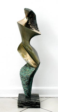 Inspiration III - Contemporary Bronze Sculpture, Abstract, Figurative, Nude