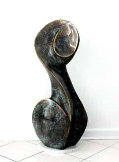 A muse - Contemporary Bronze Sculpture, Abstract, Figurative, Nude