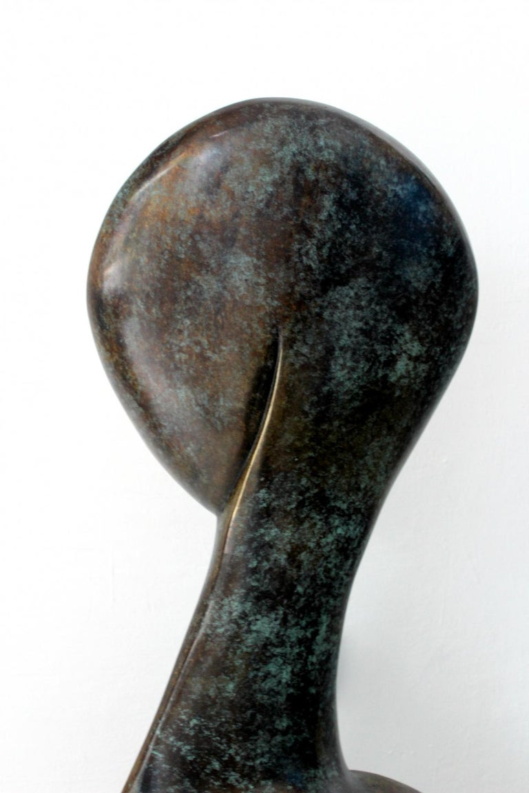 A muse - Contemporary Bronze Sculpture, Abstract, Figurative, Nude - Gold Figurative Sculpture by Stanisław Wysocki